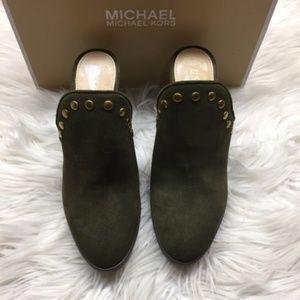 Michael Kors Green Heeled Mules 6.5M
